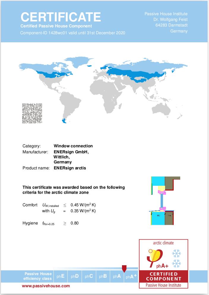 enersign certificate arctic