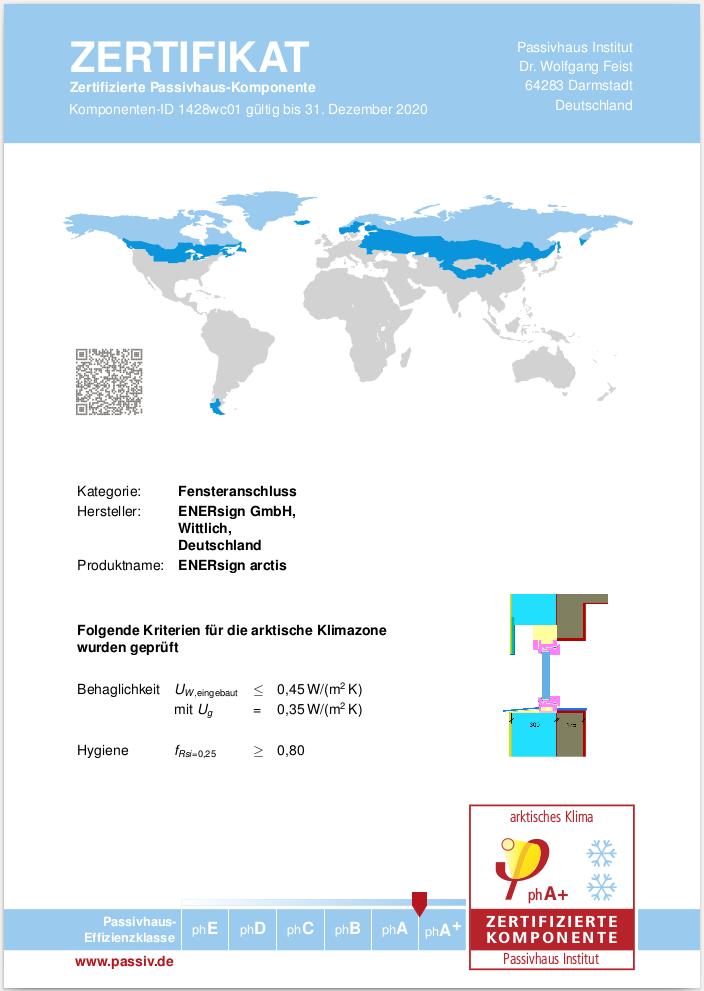 enersign zertifikat arktisch
